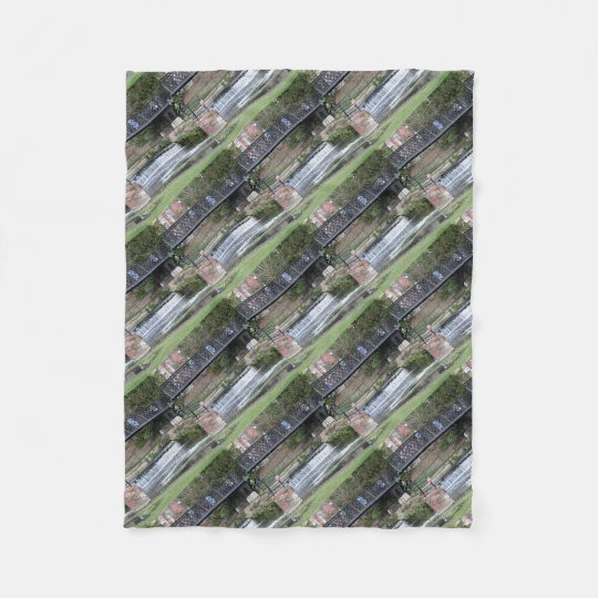 Jesus Lock footbridge, Cambridge Fleece Blanket