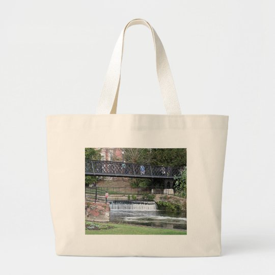 Jesus Lock footbridge, Cambridge Large Tote Bag