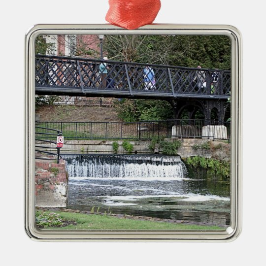 Jesus Lock footbridge, Cambridge Metal Ornament