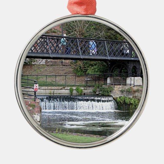 Jesus Lock footbridge, Cambridge Metal Ornament