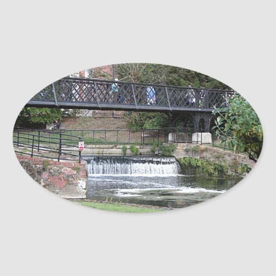 Jesus Lock footbridge, Cambridge Oval Sticker