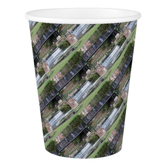 Jesus Lock footbridge, Cambridge Paper Cup