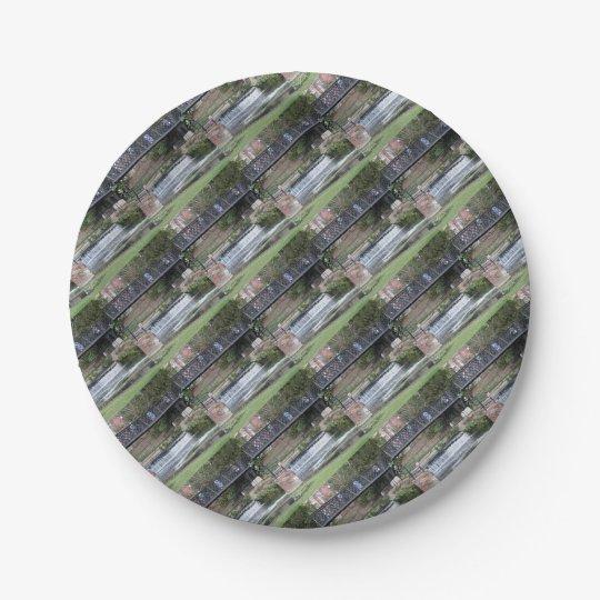 Jesus Lock footbridge, Cambridge Paper Plate