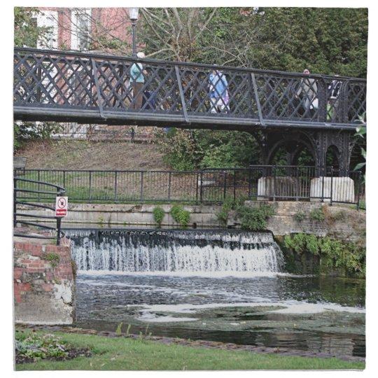 Jesus Lock footbridge, Cambridge Printed Napkin