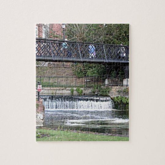 Jesus Lock footbridge, Cambridge Puzzle