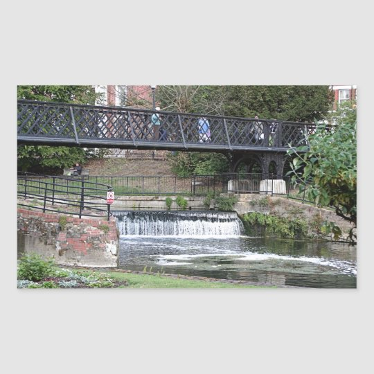 Jesus Lock footbridge, Cambridge Rectangular Sticker