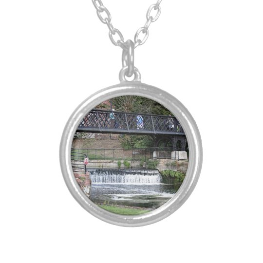 Jesus Lock footbridge, Cambridge Silver Plated Necklace