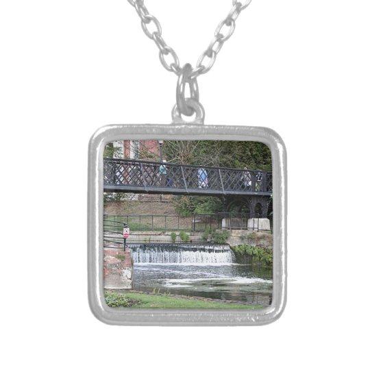 Jesus Lock footbridge, Cambridge Silver Plated Necklace