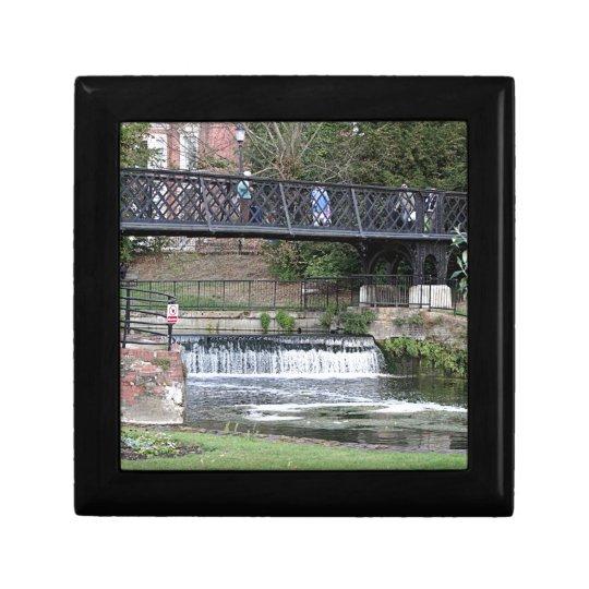Jesus Lock footbridge, Cambridge Small Square Gift Box