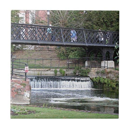 Jesus Lock footbridge, Cambridge Small Square Tile