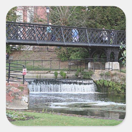 Jesus Lock footbridge, Cambridge Square Sticker