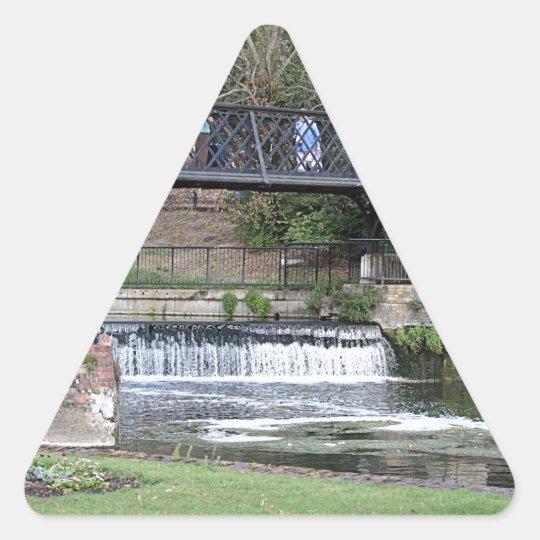Jesus Lock footbridge, Cambridge Triangle Sticker