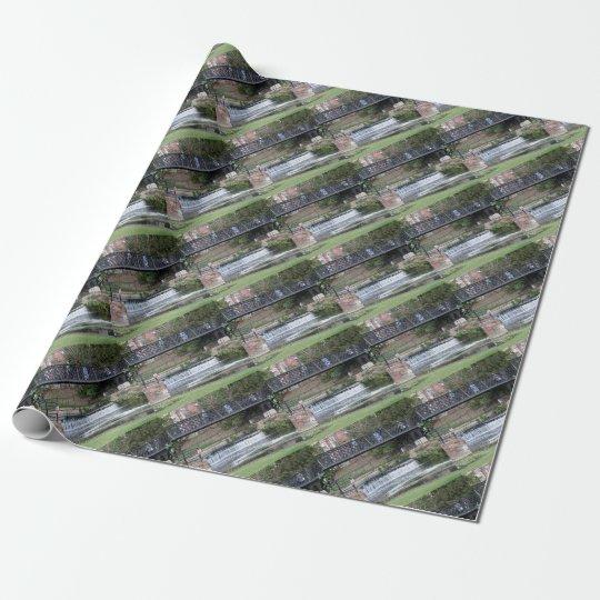 Jesus Lock footbridge, Cambridge Wrapping Paper