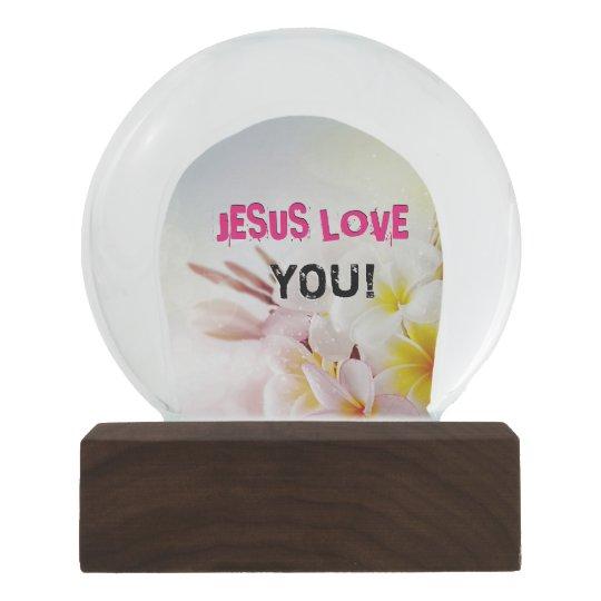 JESUS LOVE SNOW GLOBE