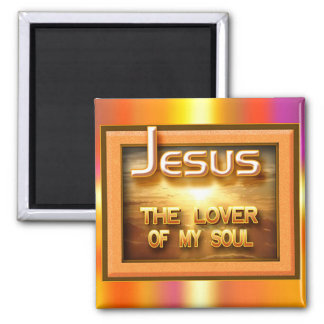 """Jesus - Lover of my Soul"" by Cheryl Daniels Square Magnet"