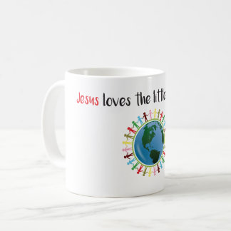 Jesus loves children coffee mug