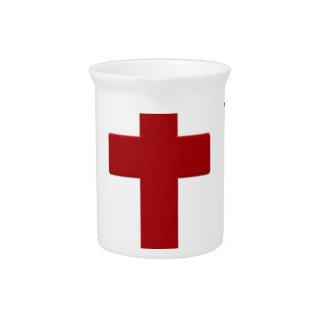 Jesus loves, Christ Christianity Religion Cross.pn Pitcher