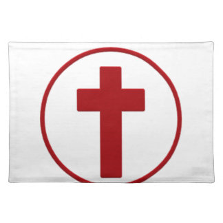 Jesus loves, Christ Christianity Religion Cross.pn Placemat