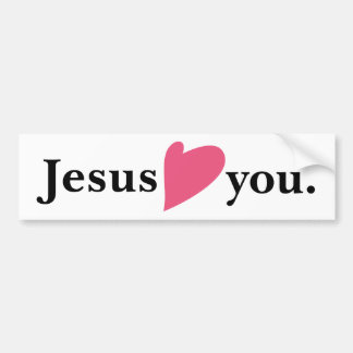 Jesus Loves Heart You Bumper Sticker