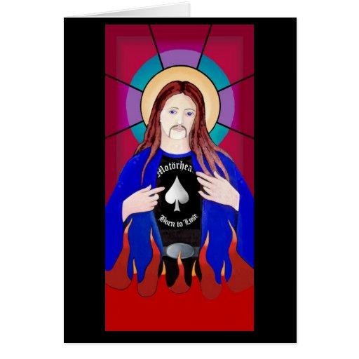 JESUS LOVES LEMMY CARD