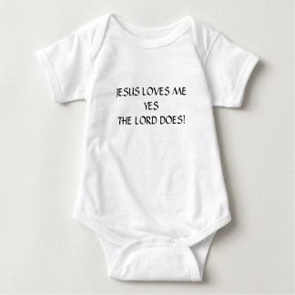 JESUS LOVES ME BABY CLOTHING BABY BODYSUIT