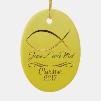Jesus Loves Me! Ceramic Ornament