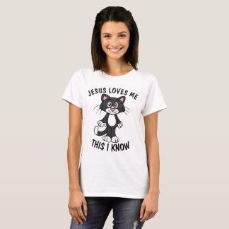 JESUS LOVES ME, Christian CAT kitten T-shirts