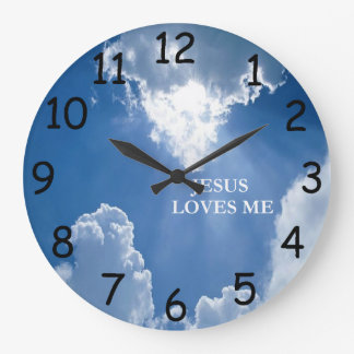 Jesus Loves Me Clock