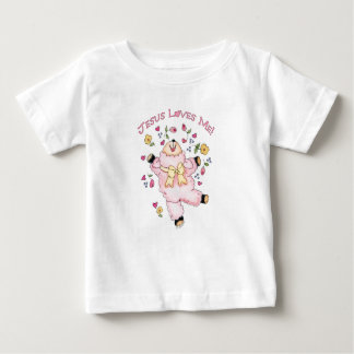 Jesus Loves Me Dancing Lamb Baby T-Shirt
