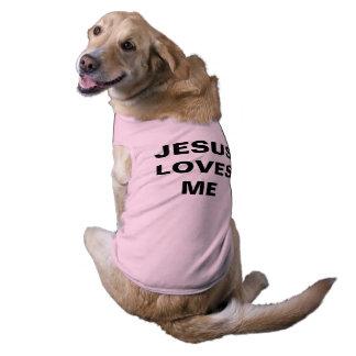 """""""Jesus Loves Me"""" Doggie Ribbed Tank Top"""