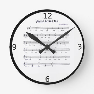 JESUS LOVES ME ROUND CLOCK