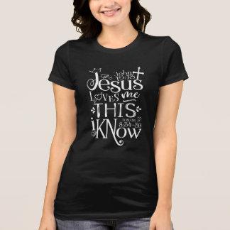 JESUS LOVES ME Slim-Fit Jersey Tee (Dark Colors)