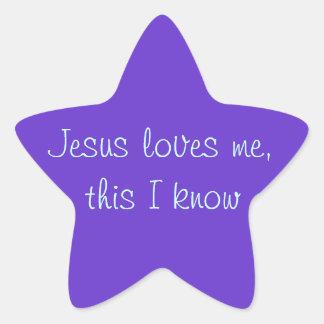 Jesus Loves Me Star Sticker