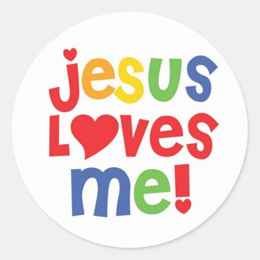 Jesus Loves Me! - sticker Stickers