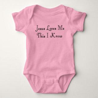 JESUS LOVES ME-T-SHIRT BABY BODYSUIT