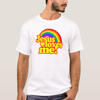 Jesus Loves Me (with Rainbow) T-Shirt
