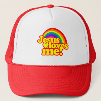Jesus Loves Me (with Rainbow) Trucker Hat