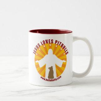 Jesus Loves Pitbulls Mug