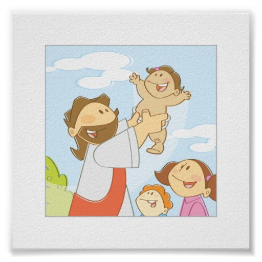 "Jesus Loves The Little Children - 6 x 6"" Posters"