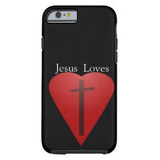 Jesus loves tough iPhone 6 case