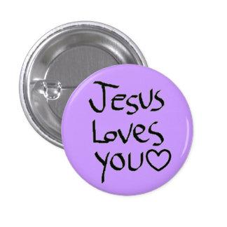 Jesus Loves You 3 Cm Round Badge