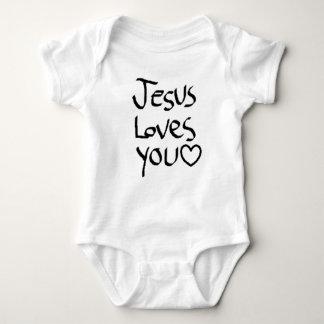 Jesus Loves You Baby Bodysuit