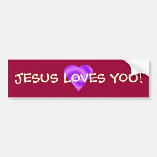 Jesus Loves You Bumper Sticker Car Bumper Sticker