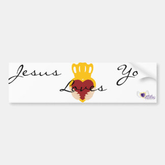 Jesus Loves You-Customize Bumper Sticker