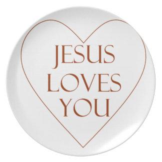 Jesus Loves You Dinner Plate