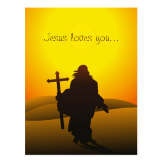 Jesus Loves You Easter Postcard