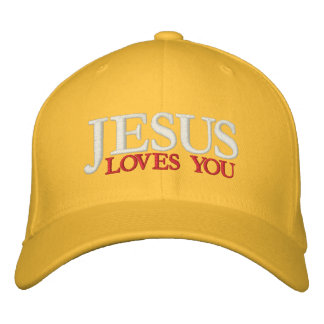 JESUS LOVES YOU EMBROIDERED HATS