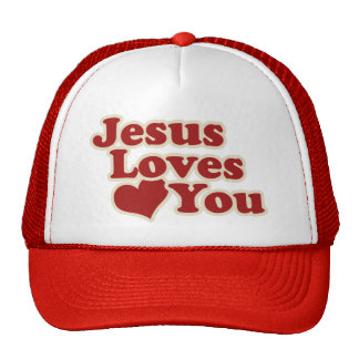 Jesus Loves you for Christians Hats