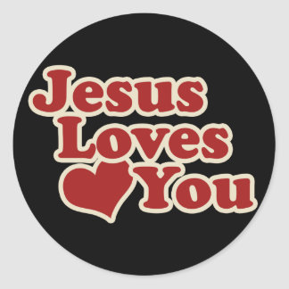 Jesus Loves you for Christians Round Sticker