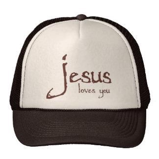 Jesus Loves You Mesh Hats